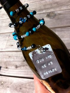 You Had Me at Merlot Wine Bottle Charm - Jewelry Making - Wein Wine Bottle Charms, Bead Bottle, Wine Bottle Tags, Bottle Jewelry, Bottle Art, Bottle Crafts, Wine Tags, Wine Labels, Bottle Labels