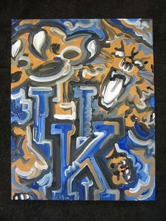 66 Ideas Basket Ball Painting Canvases University Of Kentucky Kentucky College Basketball, Kentucky Sports, Wildcats Basketball, Football, University Of Kentucky, Kentucky Wildcats, Go Big Blue, My Old Kentucky Home, Team Gifts