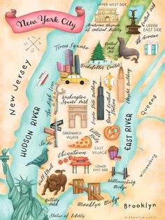 gorgeous map of New York City! gorgeous map of New York City! New York City Map, New York City Travel, Map Of Nyc, Nyc Subway, New York Cheescake, Carte New York, Plan Ville, Voyage New York, Art Et Illustration