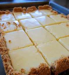 the news style of food: Creamy Lime Squares