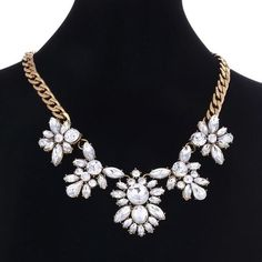 Statement Necklaces & Pendants Crystal Maxi Necklace for Women Female Gold Chain Collar Collier Femme 2018 Fashion Jewelry Cowrie Shell Necklace, Shell Necklaces, Statement Necklaces, Pendant Necklace, Choker Necklaces, Diamond Bracelets, Beaded Bracelets, Gold Chains, Chokers