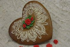 Gingerbread Lace Valentine | Cookie Connection