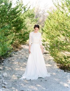 Elegant Bridal Inspiration with a rustic touch via Magnolia Rouge