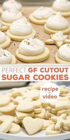 Gluten Free Cutout Sugar Cookies. These cookies are perfect for cutting into any shape you like, and frosting or icing. #glutenfreecookies #glutenfreeChristmas #glutenfreerecipes #SugarCookies #Cookies
