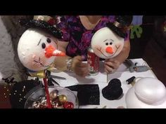 Colombina De Nieve parte 3 - YouTube Christmas Holidays, Christmas Crafts, Christmas Decorations, Xmas, Christmas Ornaments, Holiday Decor, Christmas Ideas, Diy And Crafts, Arts And Crafts