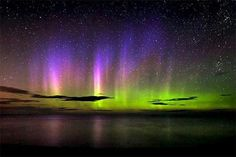 The Northern Lights above Lake Superior