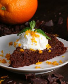Flourless Dark Chocolate Orange Cake