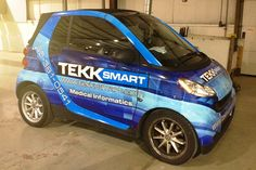 Custom smart car digital graphic vehicle wrap