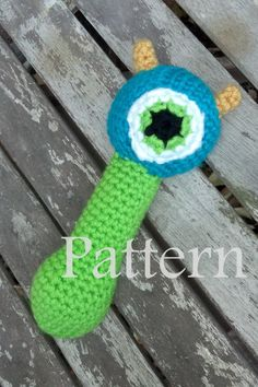 Pattern  Crochet Monster Rattle by LittleFrillsPatterns on Etsy, $4.00