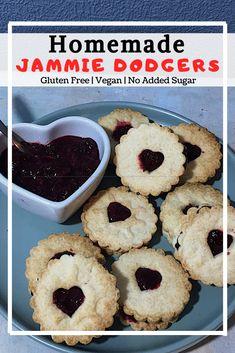 Vegan Jammie Dodgers (GF, No added sugar) • naturallysweetlife