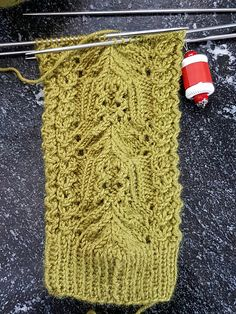 """Clue1 finished. Ready for Clue2  Start date: January 9 2017  Completion date:  Clue #1 Completed: January 17 2017  Pattern: Blossom Lace Socks II (Cuff Down) by Qianer Huang  Yarn: Regia Angora Merino  Needles: 6"""" 1.5 US/2.5mm HiyaHiya Steel Double Pointed Needles --- wollschaefchen (Ravelry Name) said."""