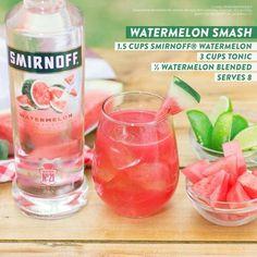 Smirnoff Watermelon Smash. Yum! #vodkadrinks