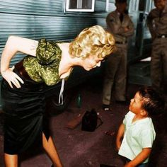 Marilyn on the set of 'Bus Stop', 1956.
