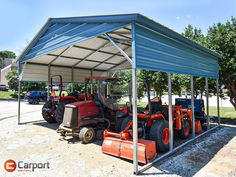 With a deposit of just $643, you can order this featured 24'W x 21'L x 10'H steel #carport today! Base price as described is $4020. We offer some great #Financing and Rent-to-Own options too. Call 866-311-0822 & mention item: 242110VRC to personalize your own #building! Carports For Sale, Steel Carports, Lawn Equipment, Clear Blue Sky, Metal Roof, Prefab, Pergola, Base, Outdoor Structures
