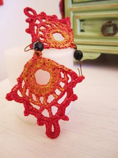 #Crochet earrings    share .. repin .. like