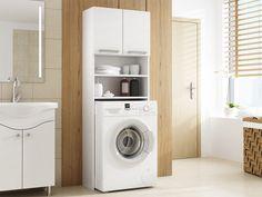 Ντουλάπι μπάνιου Pola | Polihome.gr Stacked Washer Dryer, Cabinet, Malaga, Washing Machine, House Plans, Home Appliances, Furniture, Design, Home Decor