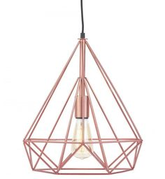 """Bright Copper Antwerp Pendant Light It's About Romi lighting; """"We love simple yet strong design in pure materials"""" Taylors Etc love this brand for . Rose Gold Lights, Interior Design Companies, Luxury Homes Interior, Bedside Lamp, Centre Pieces, Hanging Lights, Lighting Design, Light Fixtures, Ceiling Lights"""