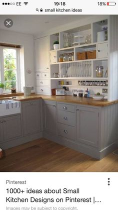 Small Kitchen Makeover Looking for little kitchen ideas? We might every covet a large and easygoing kitchen-diner as soon as room for a kitchen island, range cooker and dining table to cram guests around. Little Kitchen, New Kitchen, Kitchen Small, Kitchen Paint, Awesome Kitchen, Small House Kitchen Ideas, Kitchen Sets, Kitchen Country, Kitchen Models