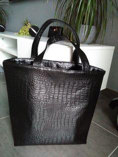 Tuto sac cabas avec rabat en simili cuir à l'intérieur