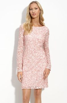 Aidan+Mattox+Sequined+Mesh+Sheath+Dress+available+at+#Nordstrom