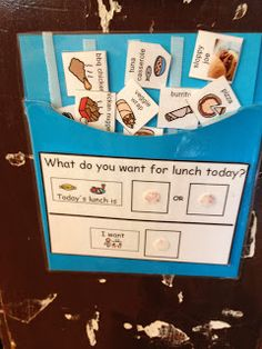Lunch time a struggle?  Show kids their options before they go and have them make a choice!