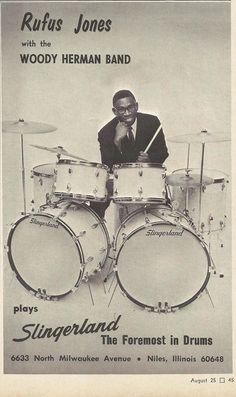 Rufus Jones for Slingerland Drums - 1966 advertisement