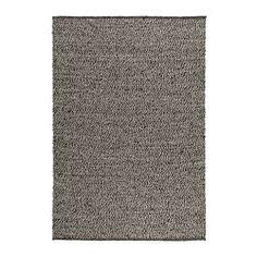 BASNÄS alfombra, lisa, beige, gris longitud: 200 cm Ancho: 140 cm densidad de la superficie: 2200 g/m²