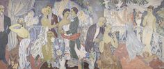 HAM esittelee Tove Janssonin tuotantoa ja elämää nostamalla esiin helsinkiläisten oman taidekokoelman teoksia. Esillä on kaksi keskeisintä Tove Janssonin teosta, freskot Juhlat kaupungissa ja Juhlat maalla, öljymaalaus Ennen naamiaisia ja Auroran sairaalan seinämaalauksen luonnoksia.