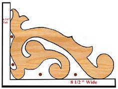 scroll saw decrative edges patterns - Google Search
