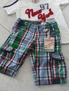 VINGINO Shorts Grün Blau Weiß Rot - Verkäufer: clabu24