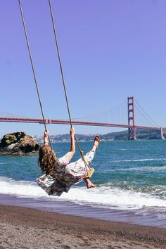 Kirby Cove Swing, San Francisco – The Together Traveler – spiritualityaestheti Oh The Places You'll Go, Places To Visit, Kirby Cove, San Francisco Pictures, San Francisco Photography, San Francisco Travel, California Travel, Southern California, Golden Gate Bridge