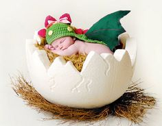 DRAGON/ DINOSAUR Baby Costume acrylic by AleksandraNagrant. Custom colours available.