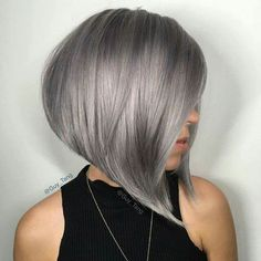 Edgy and intimidating, the silver hair trend has all the cool girl vibes. Here, 17 gray and silver hair inspiration photos that will have you running to your colorist immediately. Short Grey Hair, Short Hair Cuts, Short Hair Styles, Short Silver Hair, Black Hair, Brown Hair, Short Hairstyles For Women, Bob Hairstyles, Bob Haircuts