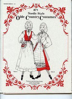 Scandinavian Nordic Style Ethnic Costume Pattern Ladies Dress Size 8-16 #871