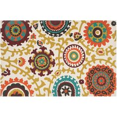 Safavieh Cedar Brook Bohemian Medallion Rug (€180) ❤ liked on Polyvore featuring home, rugs, white, safavieh rugs, white area rug, white cotton rug, boho area rugs and multi-colored rug