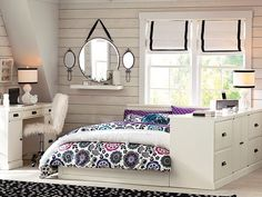 I love the PBteen Paramount Bold Floral Bedroom on pbteen.com