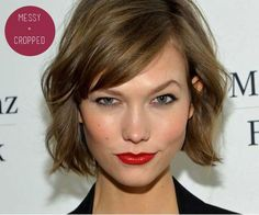 Messy bob on Karlie Kloss...I like this length...what do you guys think?