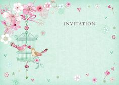 Lynn Horrabin - birds and cherry blossom. Decoupage Vintage, Vintage Paper, Feather Drawing, Art Clipart, Cartoon Pics, Vintage Labels, Flower Frame, Illustrations, Pattern Wallpaper