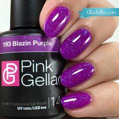 Pink Gellac Blazin Purple Gel Polish