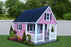 Build A Playhouse, Playhouse Outdoor, Pink Playhouse, Diy Roofing, Roofing Shingles, Modern Roofing, Steel Roofing, Roof Decoration, Fibreglass Roof