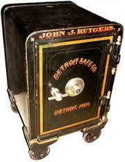 Hand Painted York Safe Amp Lock Co Floor Safe Antique