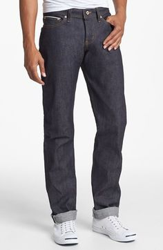Naked & Famous Denim 'Weird Guy' Slim Fit Selvedge Jeans (Left Hand Twill Selvedge) available at #Nordstrom