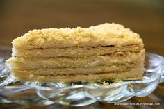 """I can't imagine my childhood without cake """"Napoleon"""". My mom used to bake it a lot. Although I don't usually bake this cake very often, it's definitely one of my favorite pastries. This cake consists of layers of flaky pastry with sweet butter cream. It's delicious, but let me warn you, it's very rich cake. …"""
