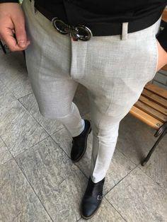 michail score slim fit likralı gri erkek kumaş pantolon T2066 Stylish Mens Outfits, Casual Outfits, Men Casual, Mens Fashion Wear, Suit Fashion, Raymond Shop, Formal Men Outfit, Pants Pattern, Men Looks