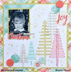Christmas Joy - My Creative Scrapbook Dec. 2016 LE Kit Prima - Sweet Peppermint Collection - Christmas