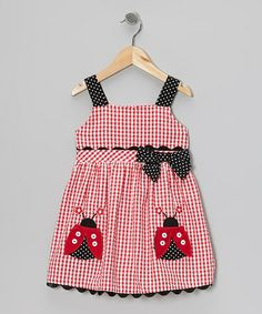 Take a look at this Red Ladybug Dress - Girls by Samara on #zulily today!