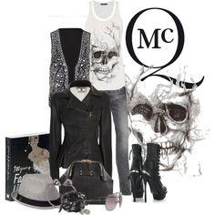 """Alexander McQueen Skull Top"" by marili71 on Polyvore"