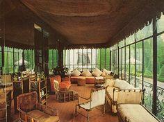 Elsie De Wolfe | cozy chamber at Elsie de Wolfe's Villa Trianon.