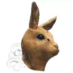 Latex rabbit hare Animal mask