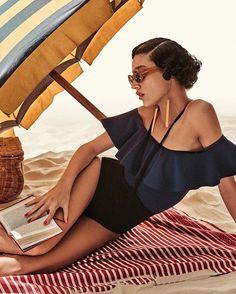 "Model Damaris Goddrie (@damarisgoddrie) photographed by the great Giampaolo Sgura (@giampaolosgura) in ""Lady Sunshine/Retro Summer"" for Vogue Turkey July 2016 (@vogueturkiye). Stylist: Christiane Arp   Hair: @francogobbi1   Makeup: @galafofiii."